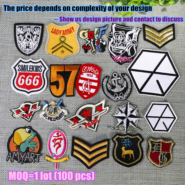 8cm Name Logo Patch Iron Sew on Badges Badge Embroidered Personalised Custom