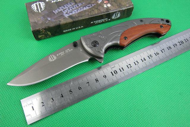 Strider B47 Klapp EDC Taschenmesser 3CR13 57HRC Aluminium Holzgriff Überleben Taktisches Messer Outdoor Schneidwerkzeuge Beste Weihnachtsgeschenk P138F