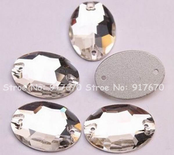 500pcs//1000pcs AB Color Drip Acrylic Sewing Rhinestone Button Flatback W// 2Holes