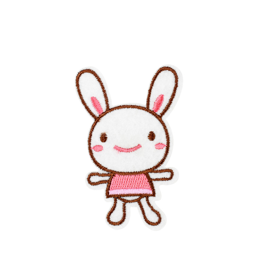 DIY Rabbit Girl Embroidery Sew On Iron On Patch Badge Bag Clothes Craft Applique