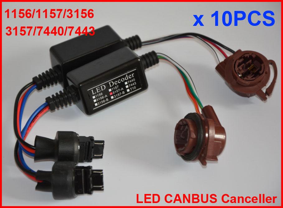 1157 BAY15D LED Decoder Adapter Warning Error Free Warning Canceller Fix LED Bulb Fast Hyper Flash Anti Hyper Blink Flash Error Cancel Canbus Brake Set 2Pcs