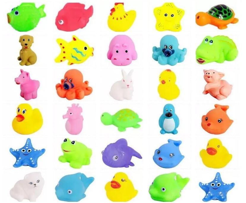 4pcs Mini Bath Toys Fishing Floating Bathroom Pool Game Pre-School Boys Girls RF