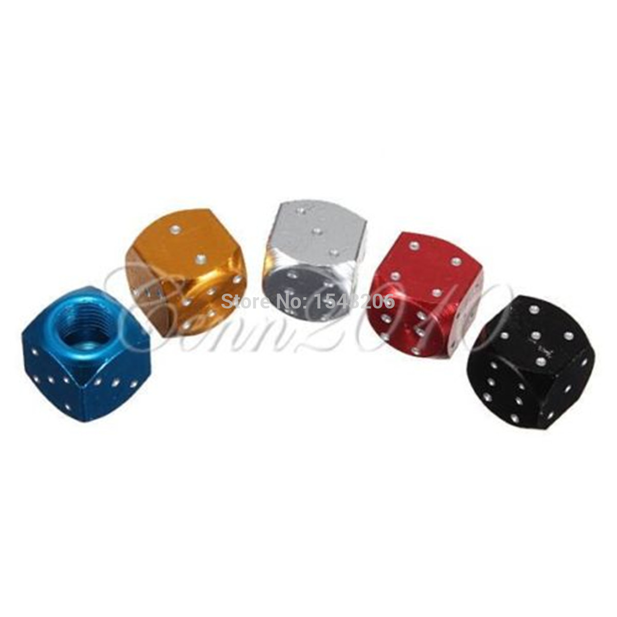 Aluminum Dice Style Y-SPACE 5 Pieces Car Truck Motorcycle Wheel Tyre Valve Caps Bicycle Tire Air Valve Cover Red Green