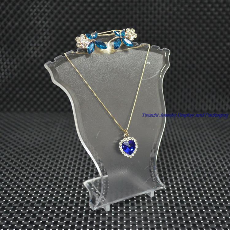 23cm Collar Colgante Alto pantalla Busto-Joyería Maniquí Soporte Soporte Rejilla