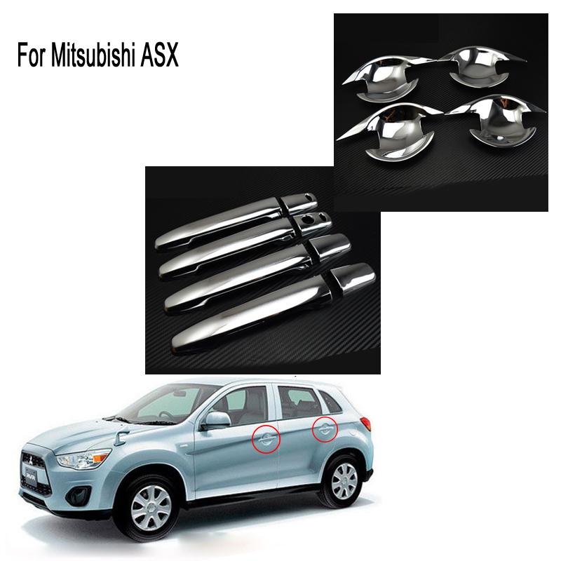 2013-2016 For Mitsubishi Outlander Side Door Handles Cover Trim ABS 8pcs