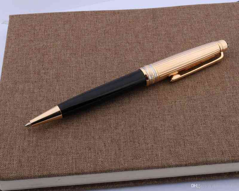 Office writing metal 163 stationery classic 925 golden black gift Ballpoint Pen