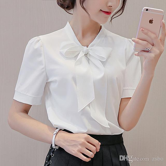 2019 women's Harajuku clothing spring summer sweater a long-sleeve shirt with a fashionable chicophone arch workshop pink Blanco Tops XFS23