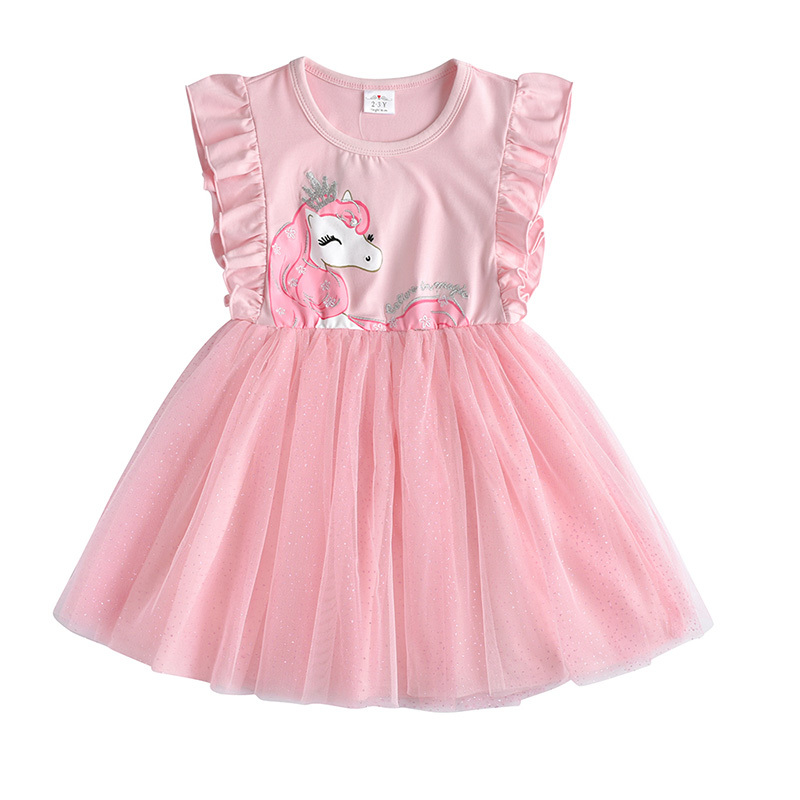Dxton Girls Summer Dress Butterfly Princess Clothes For Party Bow Tutu Kids Dresses Cartoon Children Costumes Sequin Girls Dress (77)