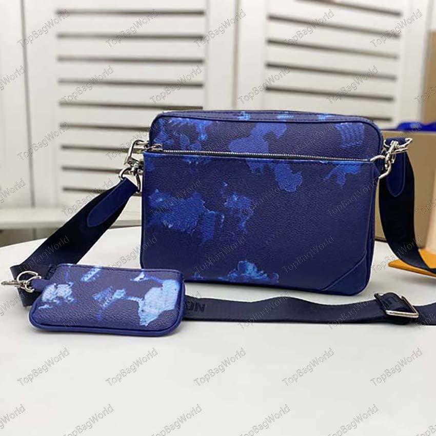 Mens designer Handbags Messenger bags Luxurys men three piece satchel crossbody Designers Bags 320 small postman bag slanting size:25x18x7cm