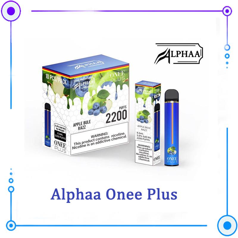 Alphaa Onee Plus Stick Disposable 870mAh Battery 8.5ml Pod 2200 Puffs Vape Pre-Filled vapors pen VS Puff Plus Air Bar Lux 0268183 15 color