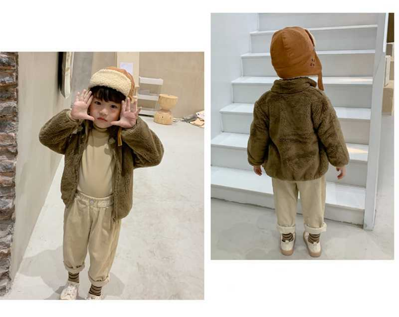 COOTELILI Fashion Fur Velvet Girls Boys Jacket Baby Girls Coat Fleece Warm Kids Jacket Snowsuit Baby Girl Hooded Outerwear (13)