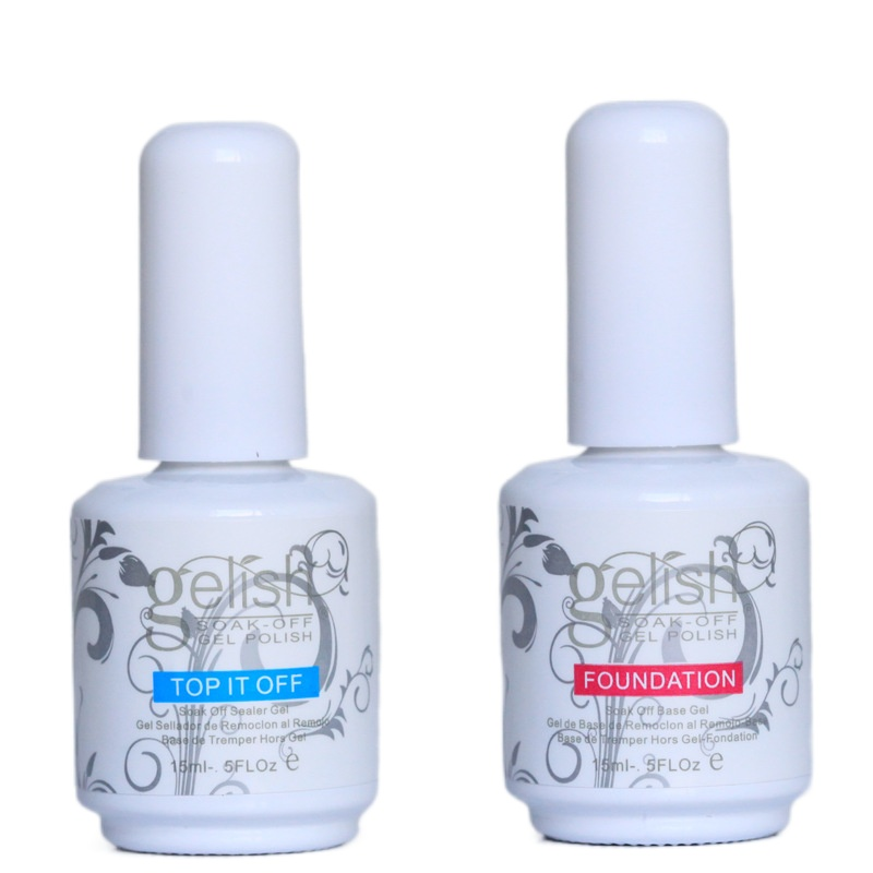 Top Quality Gelish Nail Polish Soak Off Nail Gel 15ML For Art Lacquer UV LED Harmony tool Base Coat Foundation + Top it off #022