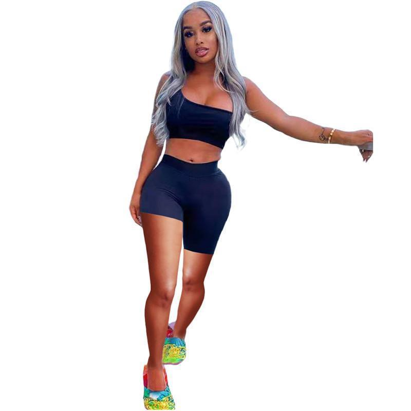 Summer Sexy Two Piece Set Womens Tracksuits Shorts outfits sleeveless sportswear jogging sportsuit shirt pants suits sweatshirt sport suit selling klw6328