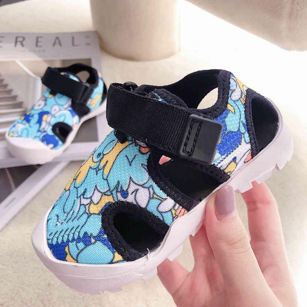 2021 Velcro Hollow Children Sandal Shoes Boy Girl Creek Shoe Kids Outdoor Beach Trainer Sneaker