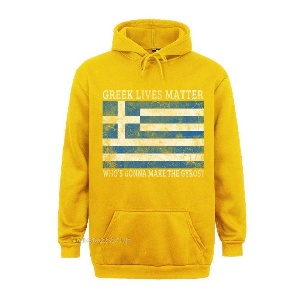 Printed Design Top T-shirts Funky Labor Day Short Sleeve O Neck Tops Shirt 100% Cotton Men Summer Top T-shirts Greek Lives Matter Whos Gonna Make The Gyros Greece Long Sleeve T-Shirt_355 yellow