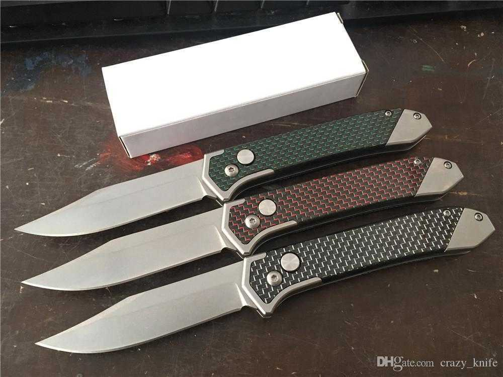 Super! Cold Steel Blade Best Automatic Folding knife Carbon Fiber Handle Camping EDC pocket Instead Of Sog FIELDER G707 knife Knives