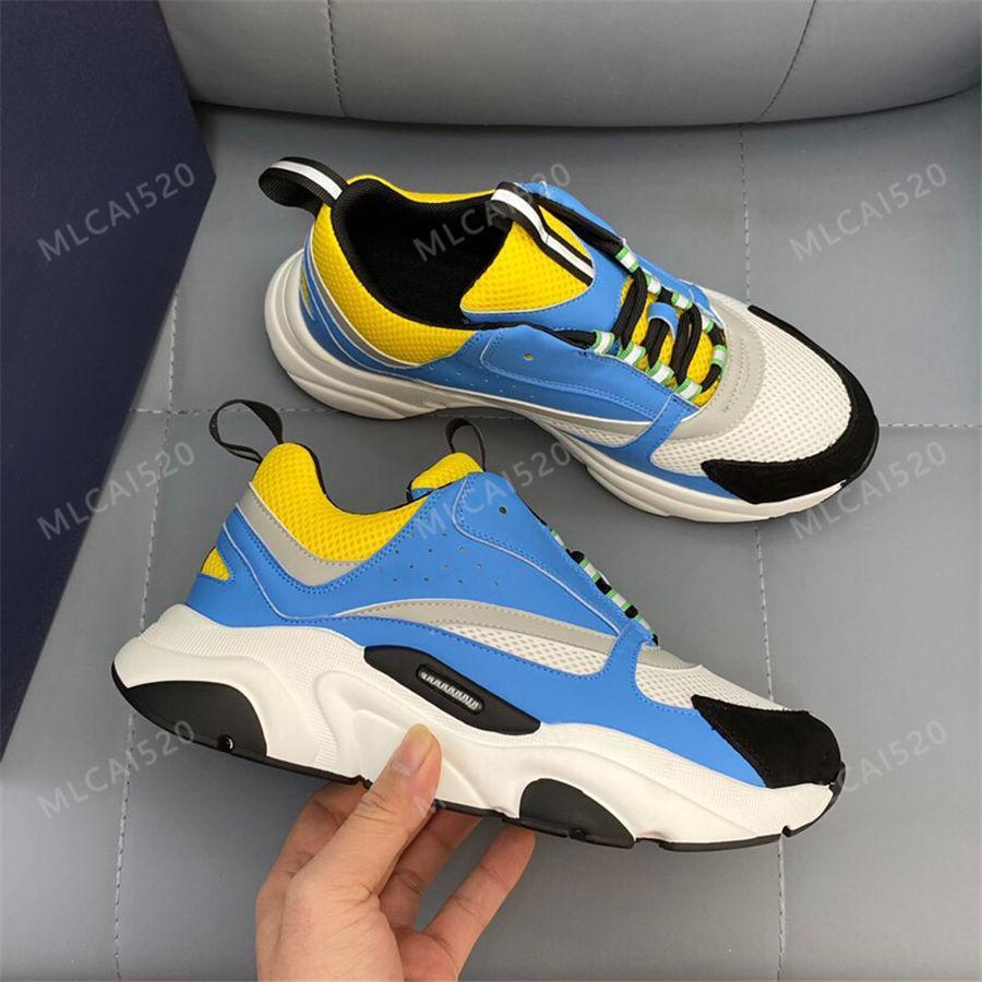 Classic Designer B22 Sneaker Leather Calfskin Casual Shoes Top Technical Knit Men Women Platform Sneakers Multicolor Trainers