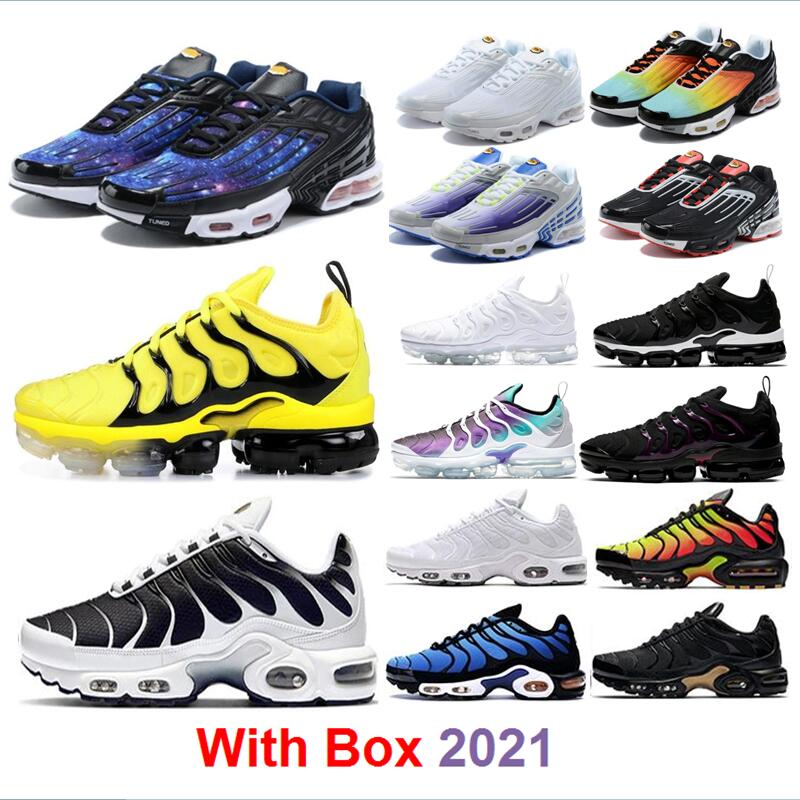 2021 Running shoes Plus 3 TN SE Stripes Sport Red Triple Black lridescent white star hyper blue sky Bred navy sunset txt tiger with box Men Women wholesale