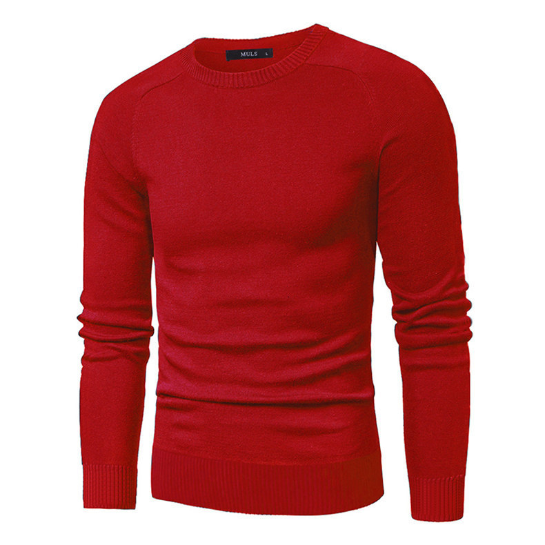 MuLS 2019 Sweater Pollovers Men Casual Cotton Knitted Sweater Jumper Pullover Round-Neck Knitwear Polo Jersey Men Plus Size 5XL 03