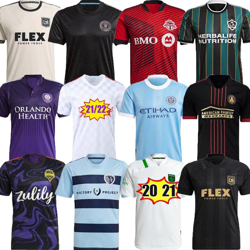 MLS Soccer jerseys 21 22 LAFC DC United Inter Miami Atlanta LA Galaxy York Montreal Columbus jersey Nashville Orlando City Kansas 2021 Toronto FC Austin Long sleeve