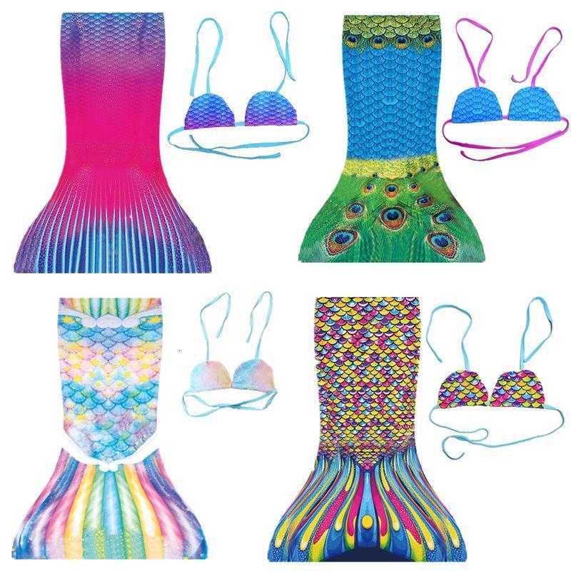 Kids swimwear girls Mermaid cut Tail Swimsuit children beach pool cosplay Outfits Baby Swimming Bathing Suit
