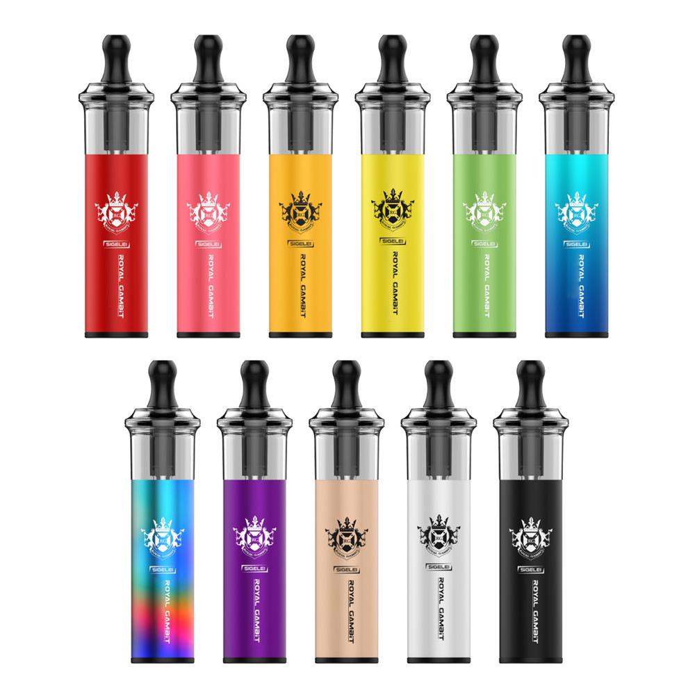 Dapr Royal Gambit Rechargeable Disposable Pod Kit e cigarette 4000Puffs 1100mAh 5% Cartridges Pre filled Vape Pen 11 Choice USA warehouse