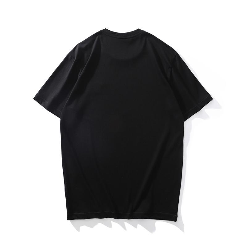 CP topstoney Summer simple icon high quality cotton short sleeve Casual solid color T-shirt Men`s Fashion Top