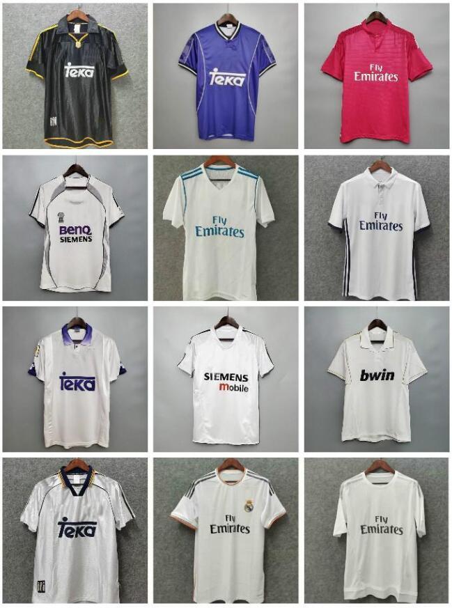 #7 Raul #9 Ronaldo #23 Beckham Retro 06 07 Real Madrid Soccer Jersey Vintage 2006 2007 Football Shirt Marcelo Higuain