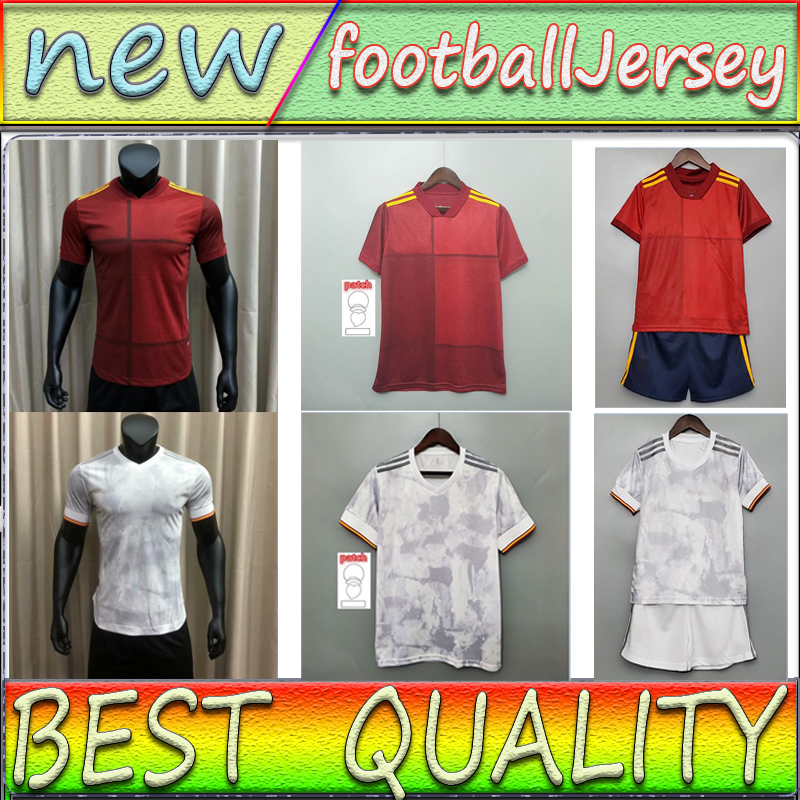 2021 soccer jersey Player Fsan version Camiseta España PACO MORATA A.INIESTA PIQUE 20 21 European Cup ALCACER SERGIO ALBA men KIDS