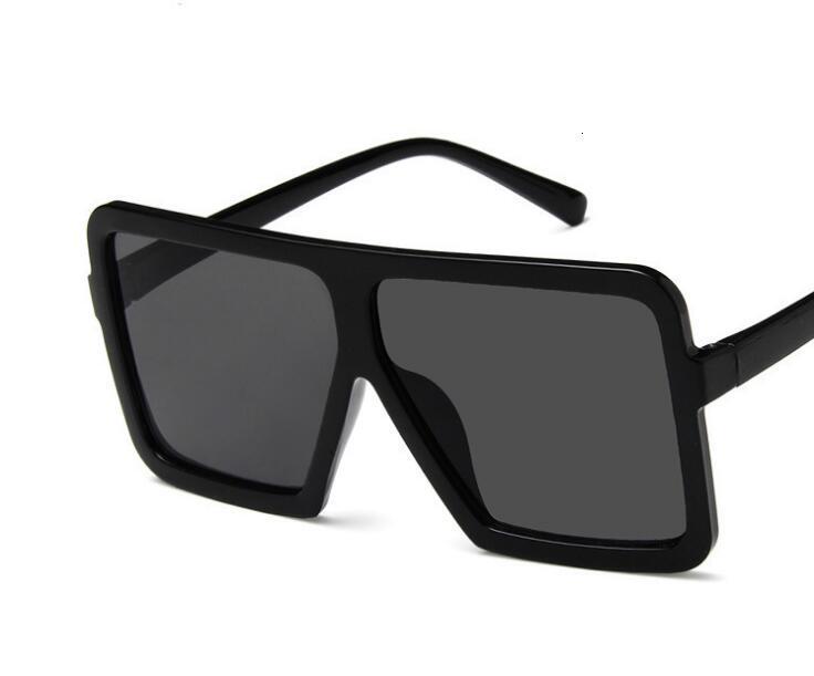 Sunglasses Square Oversize Women Sun Glasses Female Eyewear Eyeglasses Plastic Frame Clear Fashion Driving New Accessories