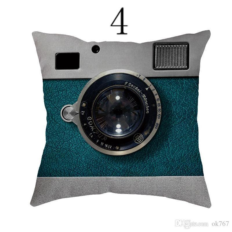 New Drop Shipping Camera Cushion Cover Creative Fashion Pillow Case Pillow Cover Wedding Cushion Case Boys and Girls Gift