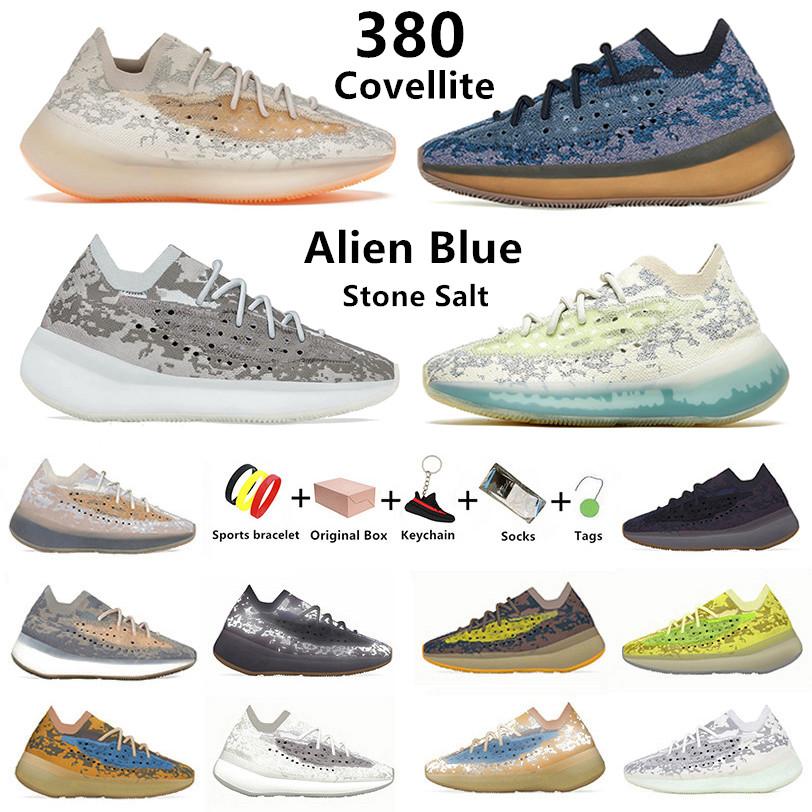 Covellite 380 kanye mens running shoes Hylte Calcite Glow pepper Stone Salt Lmnte Mist Alien blue Oat 380s Yecoraite RF Onyx men women trainer sports sneakers with box