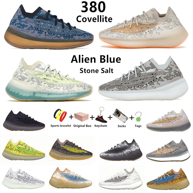 Covellite Alien blue 380 kanye mens running shoes Hylte Calcite Glow pepper Stone Salt Lmnte Mist Oat 380s Yecoraite RF Onyx men women sports sneakers with box 36-46