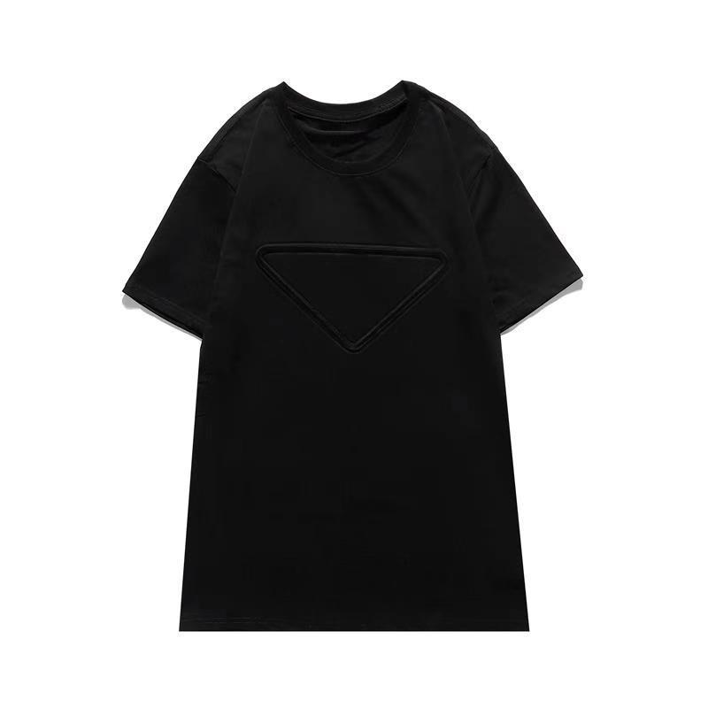 2021 Luxury Casual T-shirt New men's Wear designer Short sleeve T-shirt 100% cotton high quality wholesale black and white size S~2XL