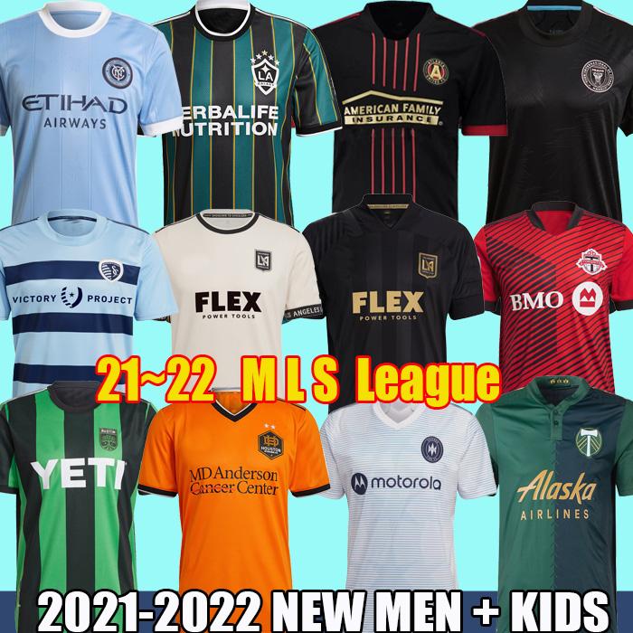 21 22 MLS Soccer Jerseys LAFC LA Galaxy Orlando Inter Miami Kansas York City Toronto Atlanta Portland MONTREAL Football shirts Eastern Western Kits Uniforms
