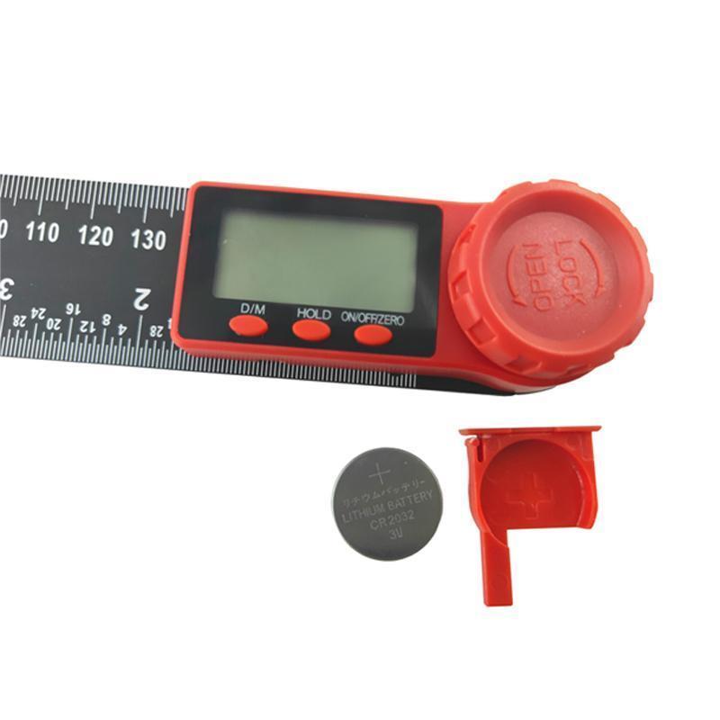 Digital Display Angle Ruler Two-in-one Plastic Angle Ruler Protractor Digital Caliper Black Vernier Caliper Level 200mm