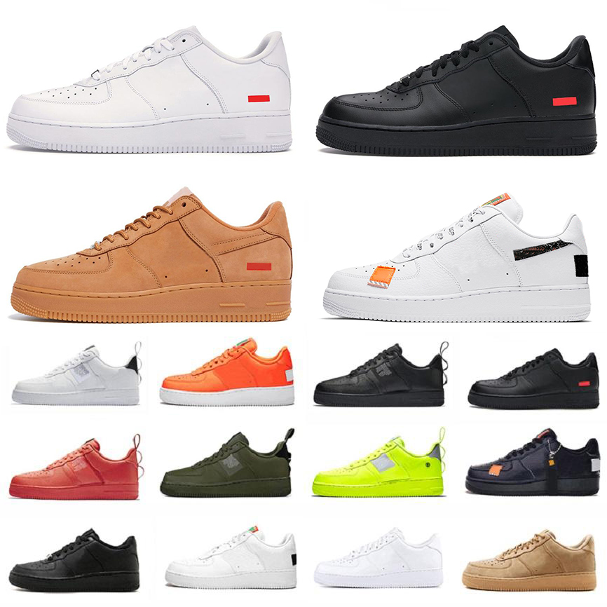 airforce 1 forces one men women Athletic running Shoes SUP Low dunk dunks 1s af1 shadow skateboard triple utility black white orange mens trainers sports sneakers