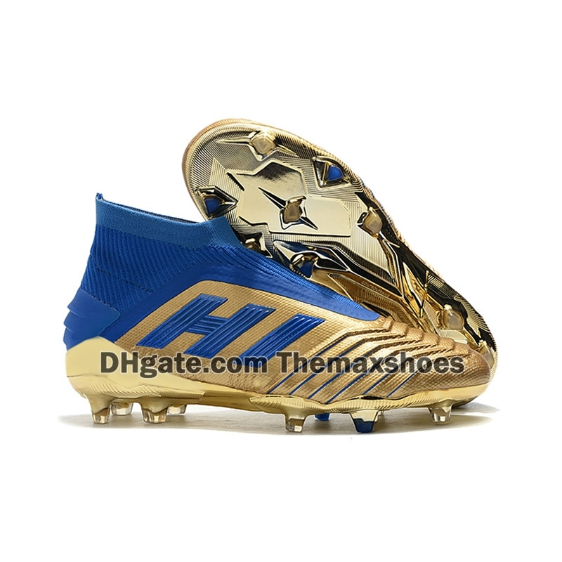 2019 Hot Predator 19+ FG PP Paul Pogba New Color soccer 19+x cleats Slip-On football boots mens high top soccer shoes cheap Size 39-45
