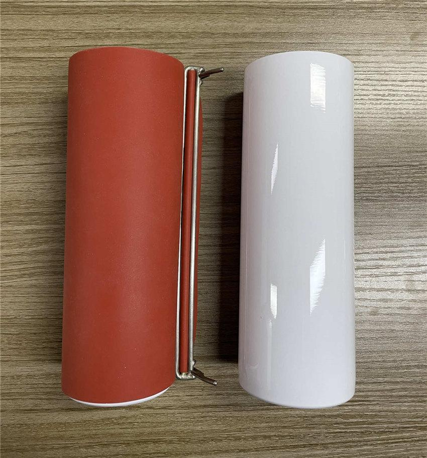 Cheapest! 20oz Silicone Shrink Wrap Sublimation Straight Tumbler Shrink Wraps Red Reusable Silicone Wraps A02