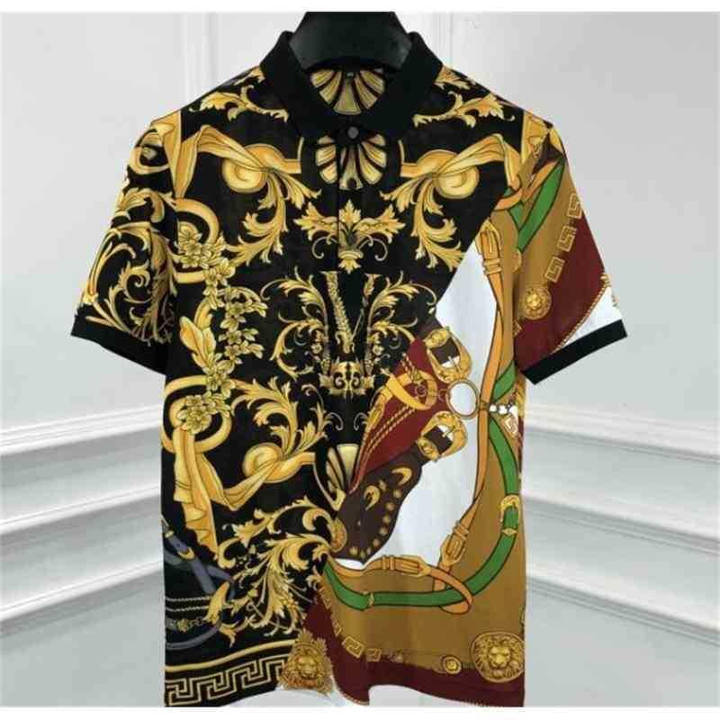 Men's T-Shirts shirs spring floral lion royal prin clohing designer ee coon shirs shor sleeve casual Gohic fo FFA8