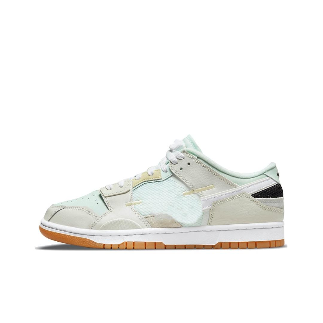 2021 Dunks Low Scrap Sea Glass Skateboard Shoes Men Women Gray Green Stitching Casual Skate Board Sneakers DB0500-100