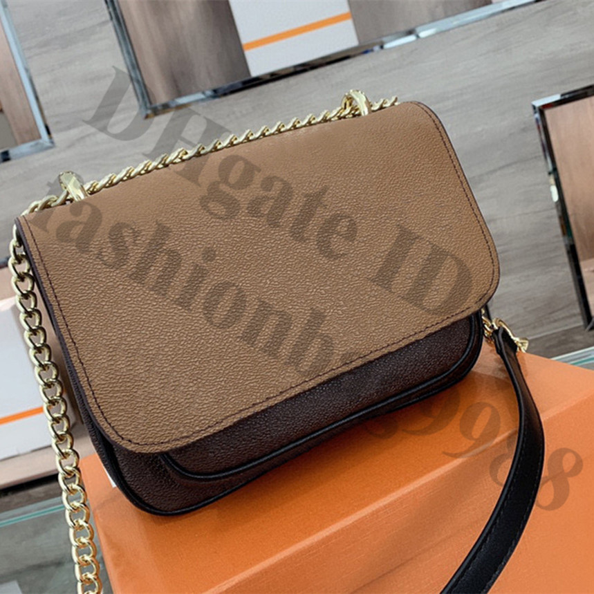 Women Leather One Shoulder Bags Young Lady Luxurious Brand Square designers Crossbody Bag Euro Fashion Girl M Middle Luxury Size Chain Handbag Wholesale