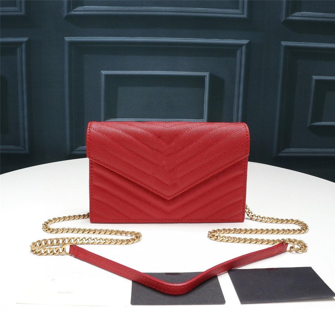 Y 3A quality ladies fashion leather ball grain chain bag clutch bag purse 27720