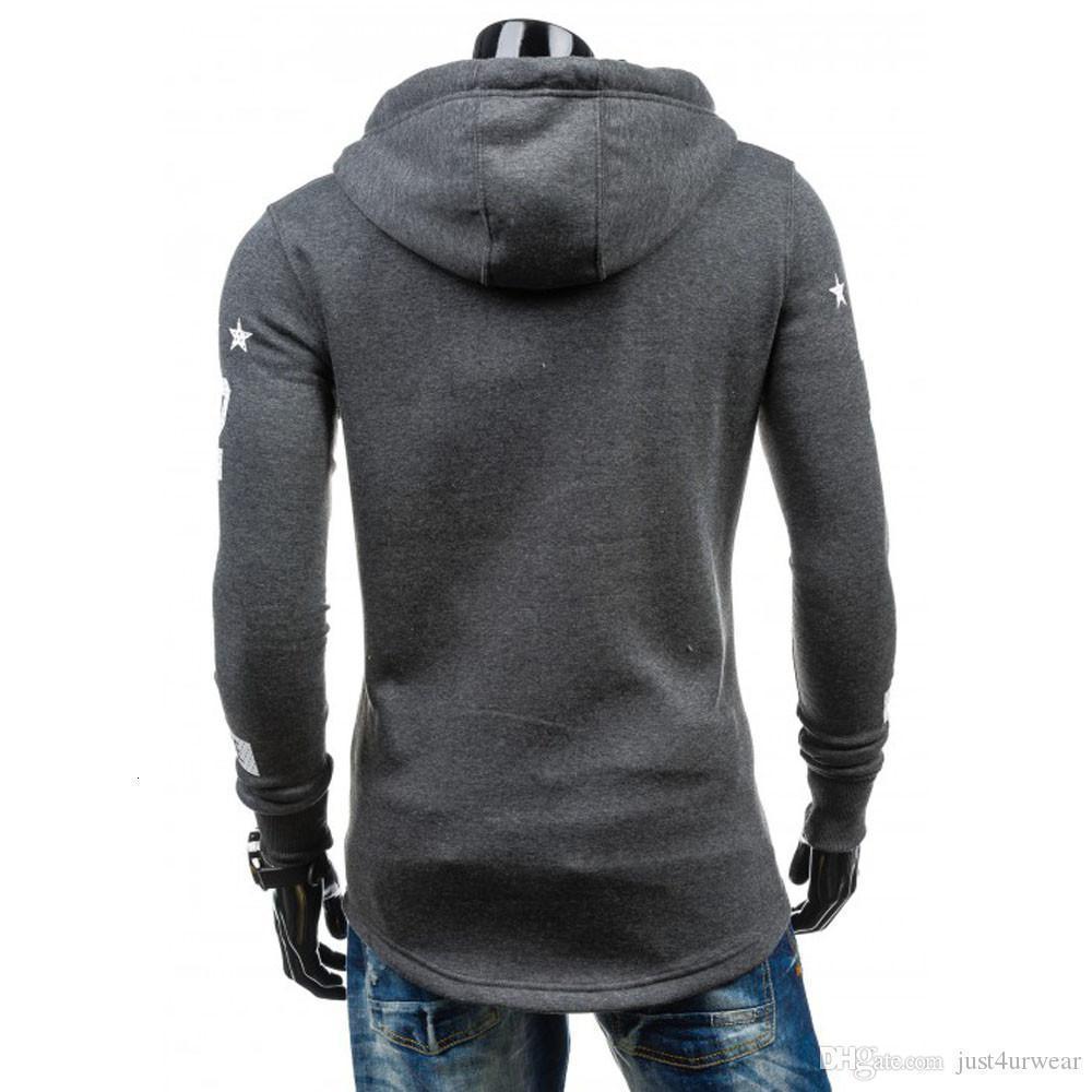Mens New Fashion Jackets Hoodies Spring Autumn Plus Size Wrap Coats Winter Warm Hooded Sweatshirt Coat Jacket Outwear Male Pullovers