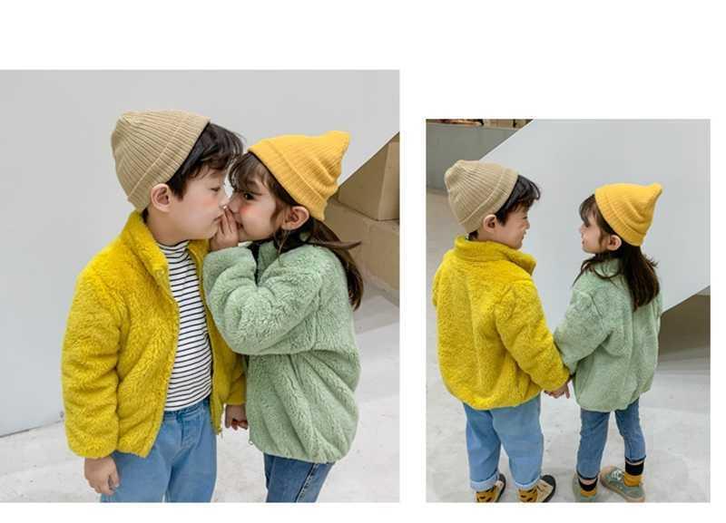 COOTELILI Fashion Fur Velvet Girls Boys Jacket Baby Girls Coat Fleece Warm Kids Jacket Snowsuit Baby Girl Hooded Outerwear (10)