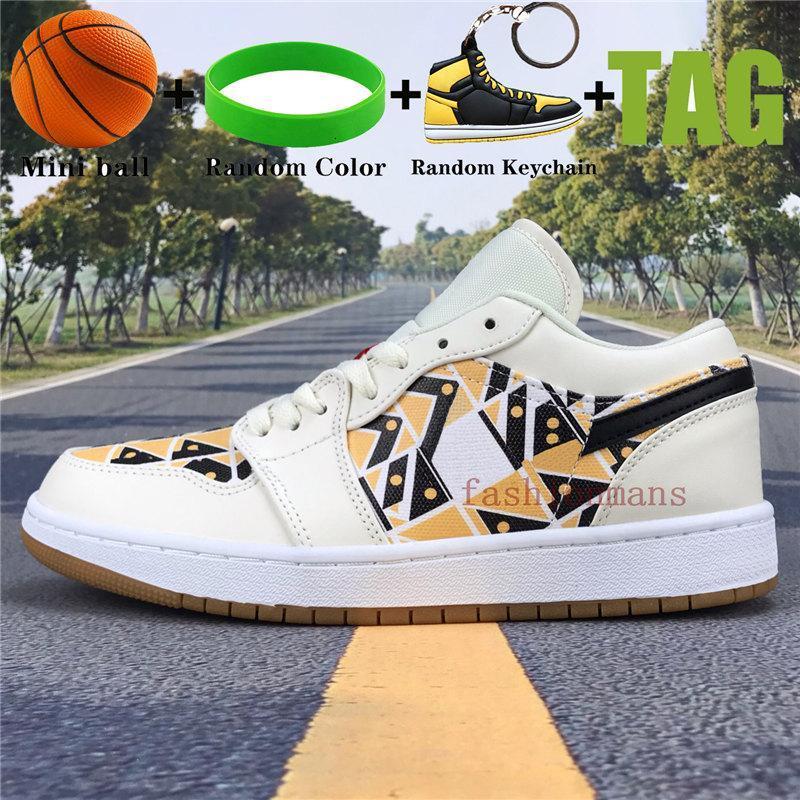 New Low 1 1s mens basketball shoes OG SP Travis Scotts UNC royal toe pine green Paris triple black men women sneakers