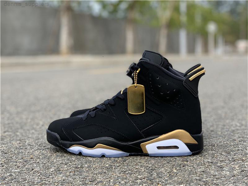 HOT Released Authentic 6 DMP 6S Black Metallic Gold 23 Retro CT4954-007 Basketball Shoes Men Women Sports Sneakers With Original Box