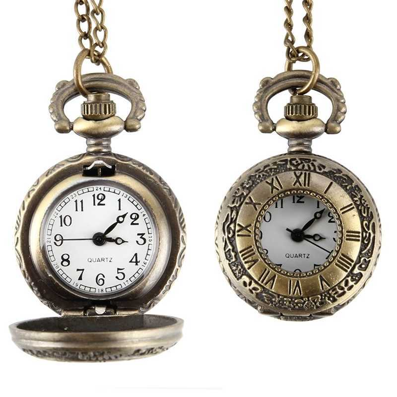Classical Cartoon Quartz Pocket Watch Men Women Hollow Case Steampunk Vintage Pendant Necklace Gifts for Children Best Gift