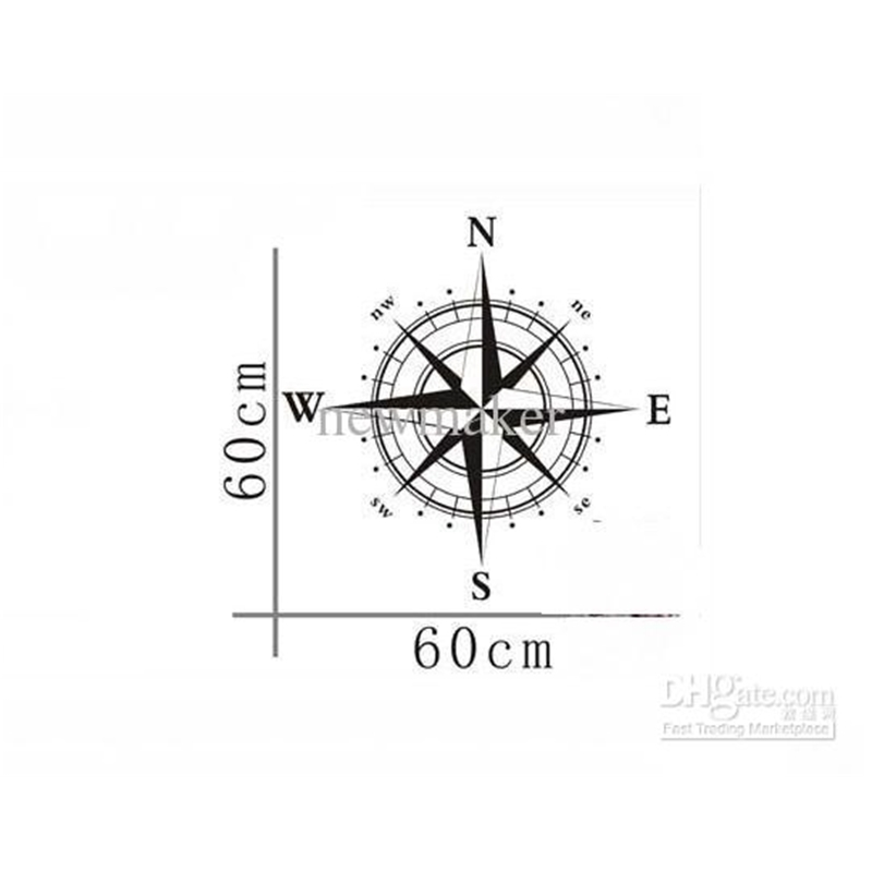 Compass Wall Decal Stickers Decor Graphics