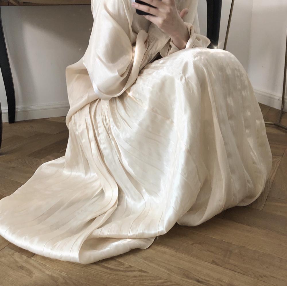 Pleated-Stain-Midi-Silk-Skirt-Women-Summer-Maxi-Satin-Silk-Skirt-For-Women-Elegant-High-Waisted